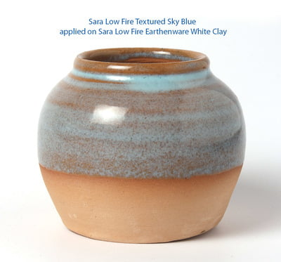 Sara Low Fire Textured Sky Blue
