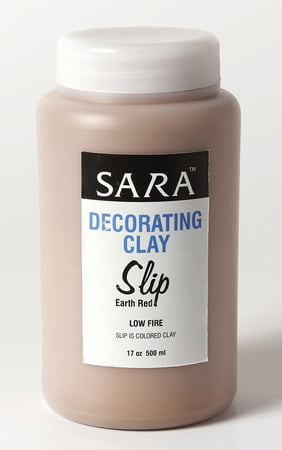 Sara Decorative Clay Slip Low Fire - Earth Red